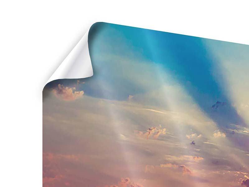 Panorama Poster 3-teilig Mystischer Sonnenaufgang