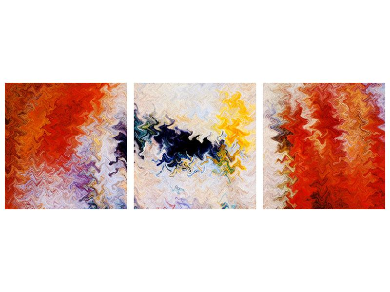 Panorama Poster 3-teilig Wandmalerei