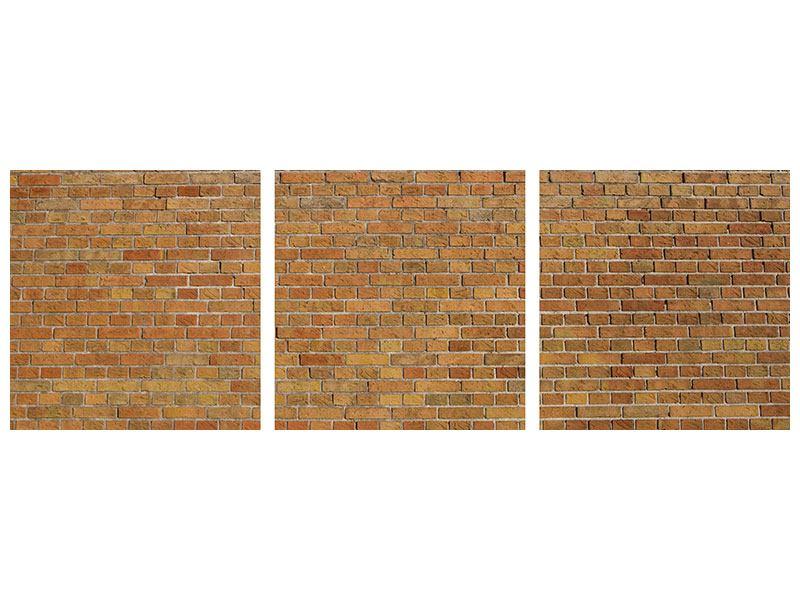 Panorama Poster 3-teilig Backsteinhintergrund