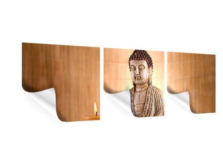 Panorama Poster 3-teilig Buddha in der Meditation