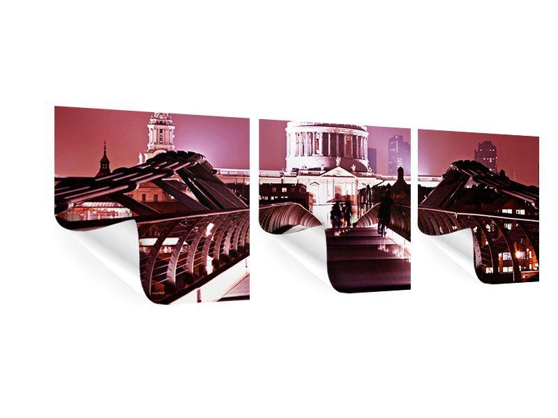 Panorama Poster 3-teilig Millennium Bridge