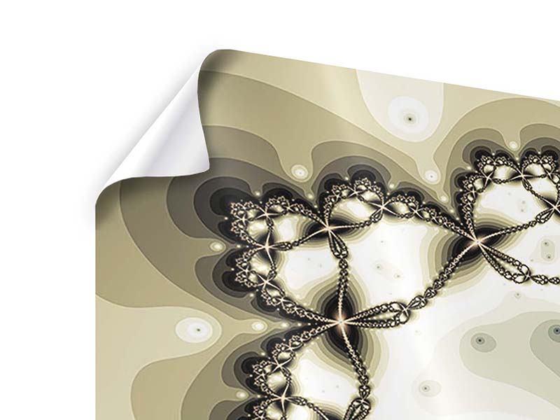 Panorama Poster 3-teilig Abstrakter Schmetterling