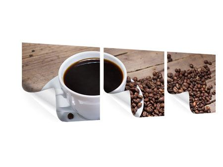 Panorama Poster 3-teilig Coffee