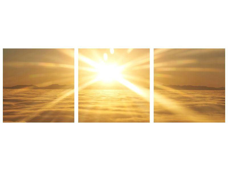 Panorama Poster 3-teilig Über dem Wolkenmeer