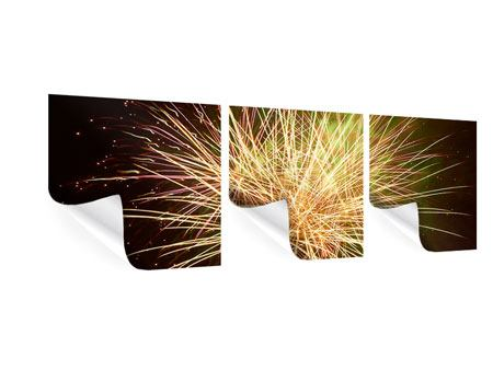 Panorama Poster 3-teilig Feuerwerk XXL