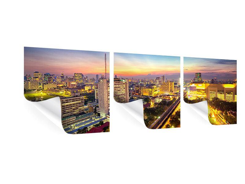 Panorama Poster 3-teilig Bangkok