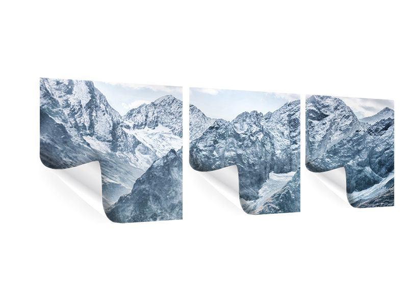 Panorama Poster 3-teilig Gigantische Berggipfel