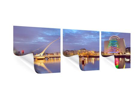 Panorama Poster 3-teilig Samuel Beckett Bridge