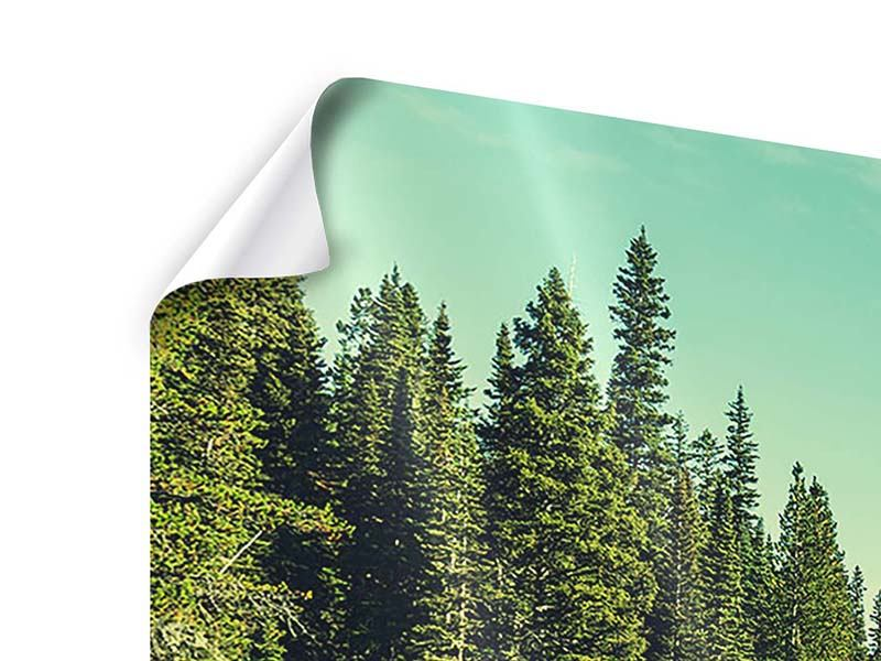 Panorama Poster 3-teilig Die Musik der Stille in den Bergen