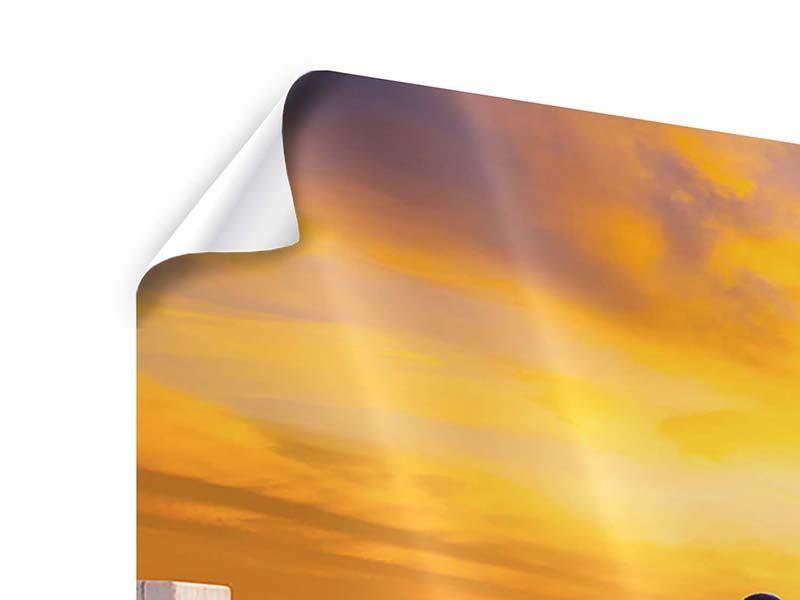 Panorama Poster 3-teilig Die Brücke Ins Glück