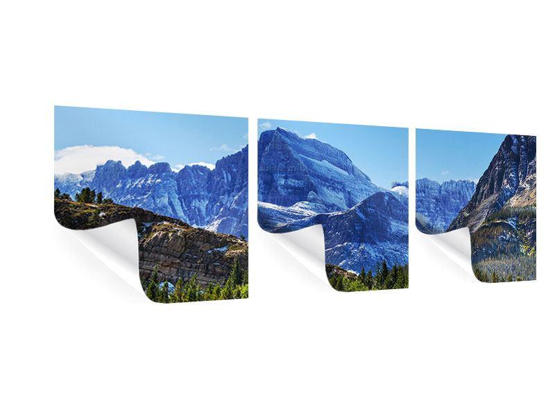 Panorama Poster 3-teilig Dem Gipfel entgegen