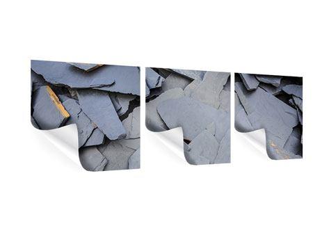 Panorama Poster 3-teilig Schieferplatten