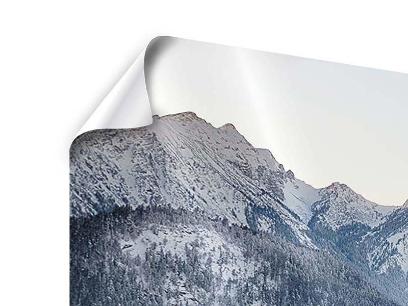 Panorama Poster 3-teilig Schloss Neuschwanstein im Ammergebierge