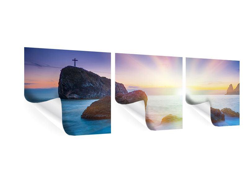 Panorama Poster 3-teilig Mystisches Meer
