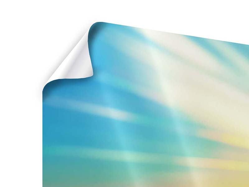 Panorama Poster 3-teilig Sonnenuntergang über den Wolken