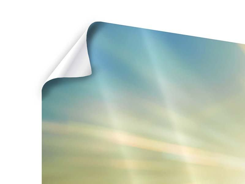Panorama Poster 3-teilig Sonnenaufgang über den Wolken