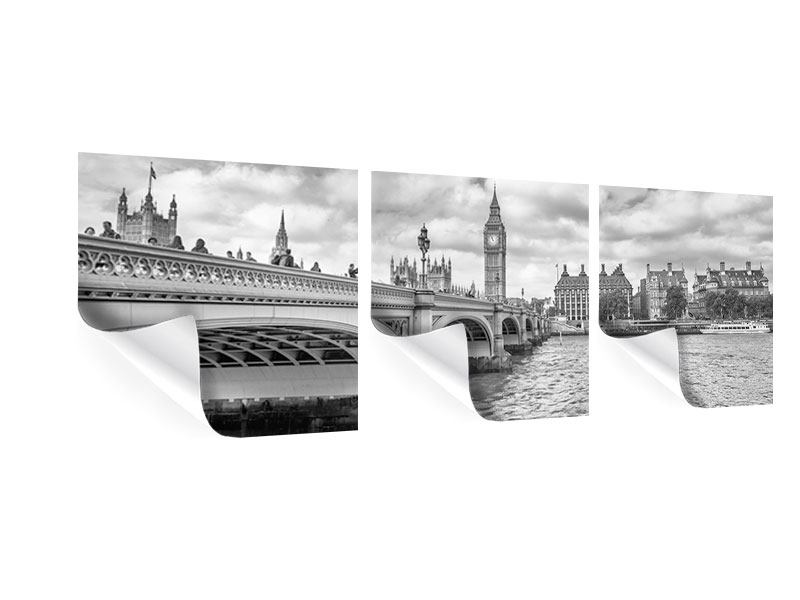 Panorama Poster 3-teilig Westminster Bridge
