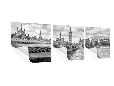 Panorama Poster 3-teilig Westminster Bridge