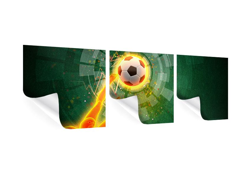 Panorama Poster 3-teilig Der Kicker