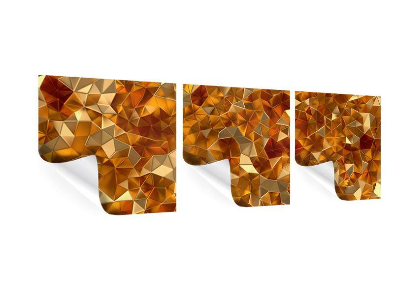 Panorama Poster 3-teilig 3D-Bernsteine
