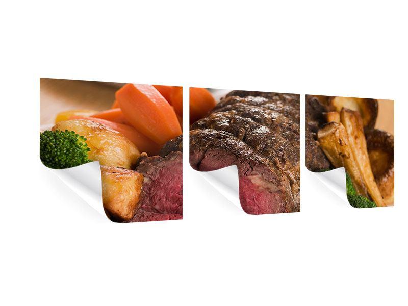 Panorama Poster 3-teilig Schlemmergericht