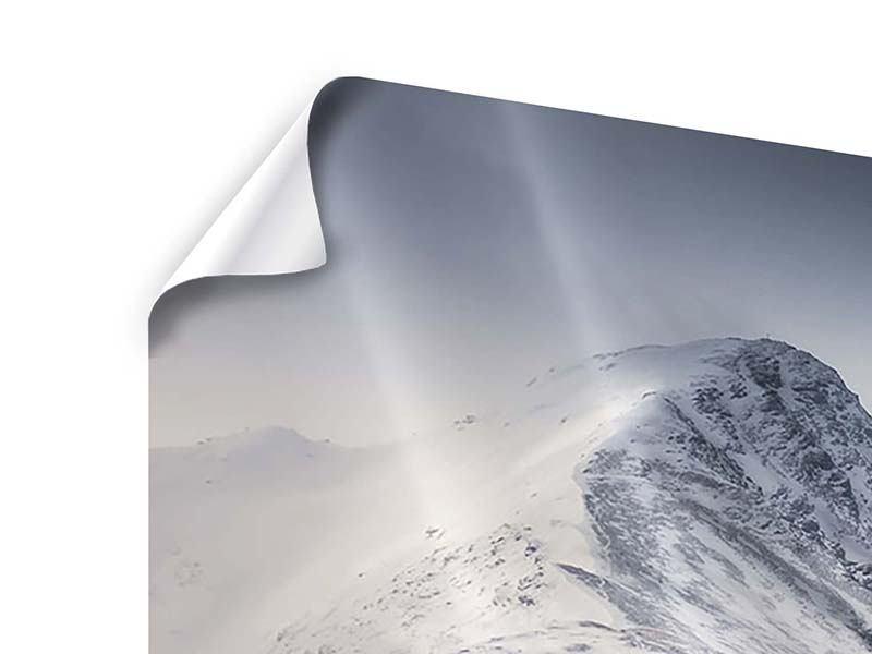 Panorama Poster 3-teilig Die Berge der Schweiz