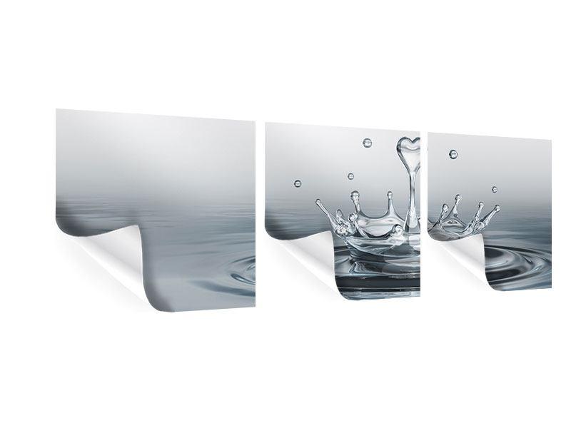 Panorama Poster 3-teilig Wasserfigur