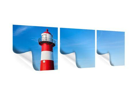 Panorama Poster 3-teilig Sommer beim Leuchtturm