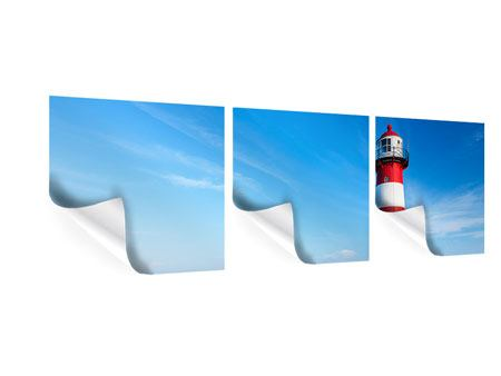 Panorama Poster 3-teilig Der Leuchtturm