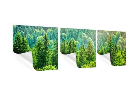 Panorama Poster 3-teilig Der Waldhügel