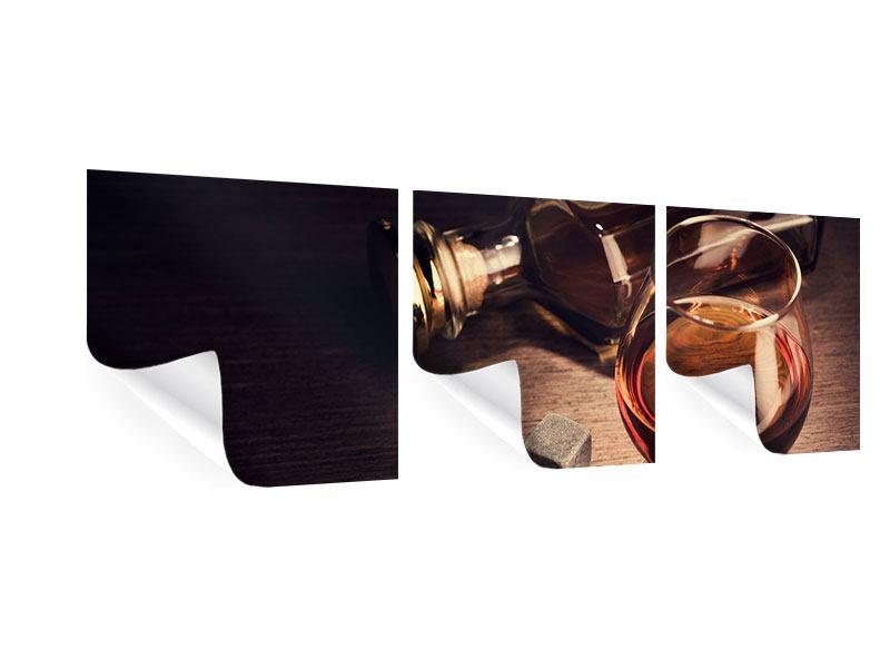 Panorama Poster 3-teilig Ein Glas Cognac