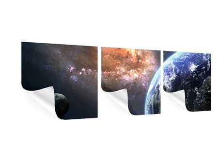 weltraum 3 teilig panorama poster seite 1. Black Bedroom Furniture Sets. Home Design Ideas