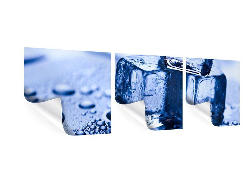 Panorama Poster 3-teilig Eiswürfel