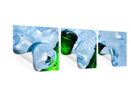 Panorama Poster 3-teilig Eisflaschen