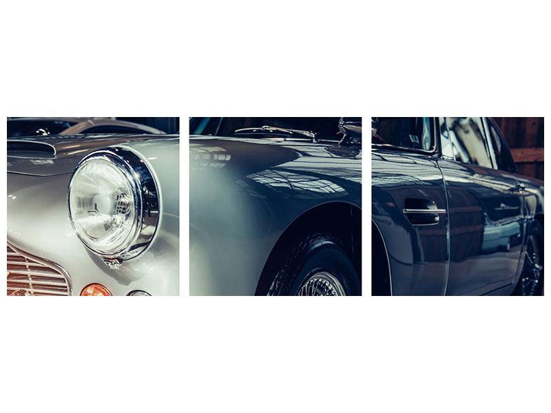 Panorama Poster 3-teilig Classic Car