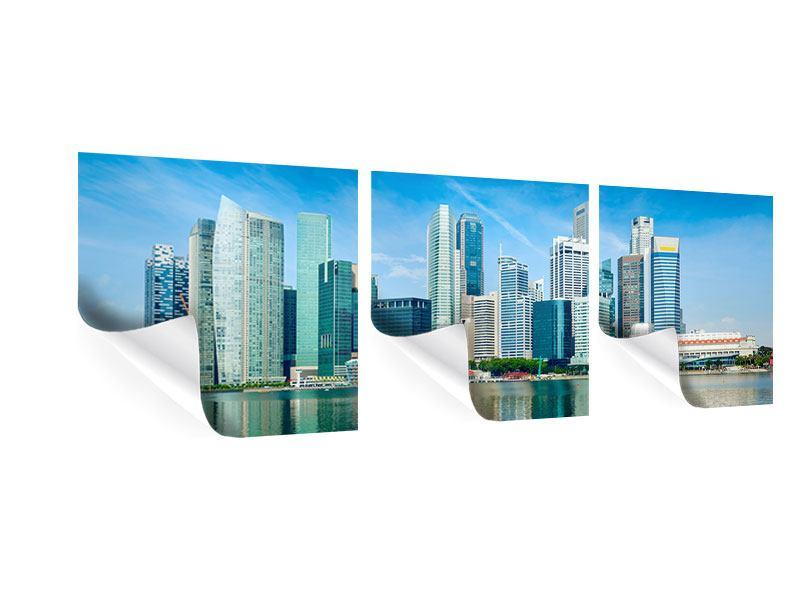 Panorama Poster 3-teilig Skyline Mexiko-Stadt