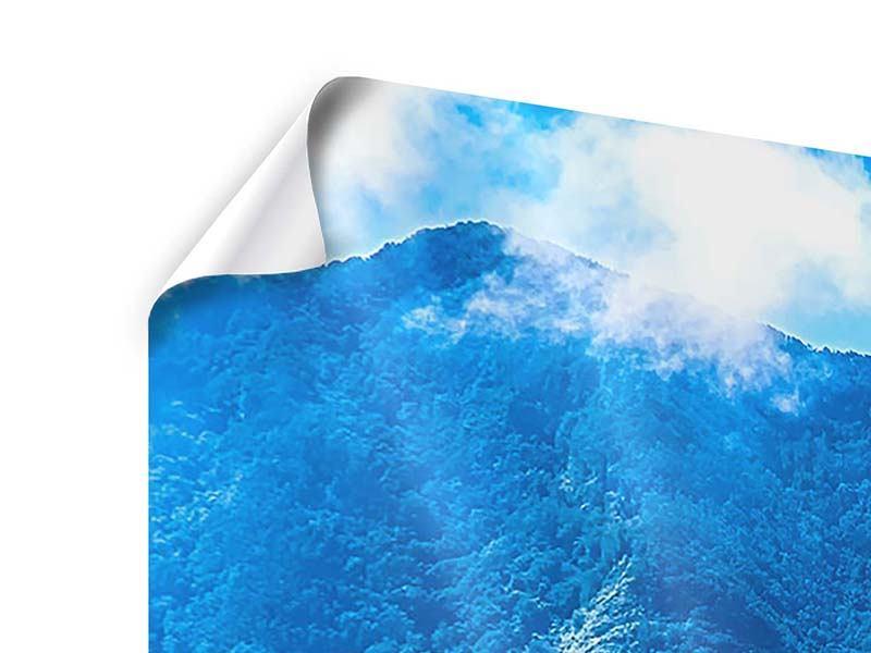 Panorama Poster 3-teilig Die Berglandschaft