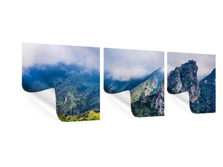 Panorama Poster 3-teilig Der stille Berg