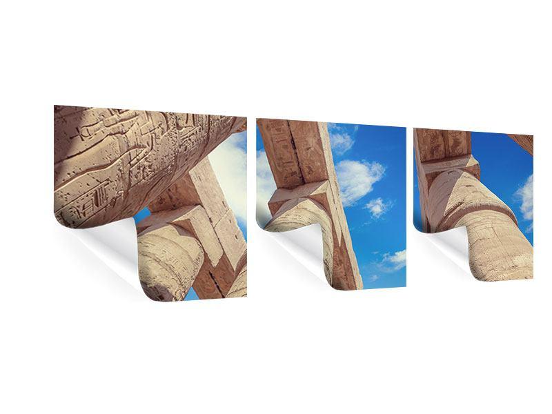 Panorama Poster 3-teilig Tempelsäulen