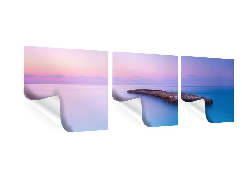 Panorama Poster 3-teilig Unendlicher Ozean