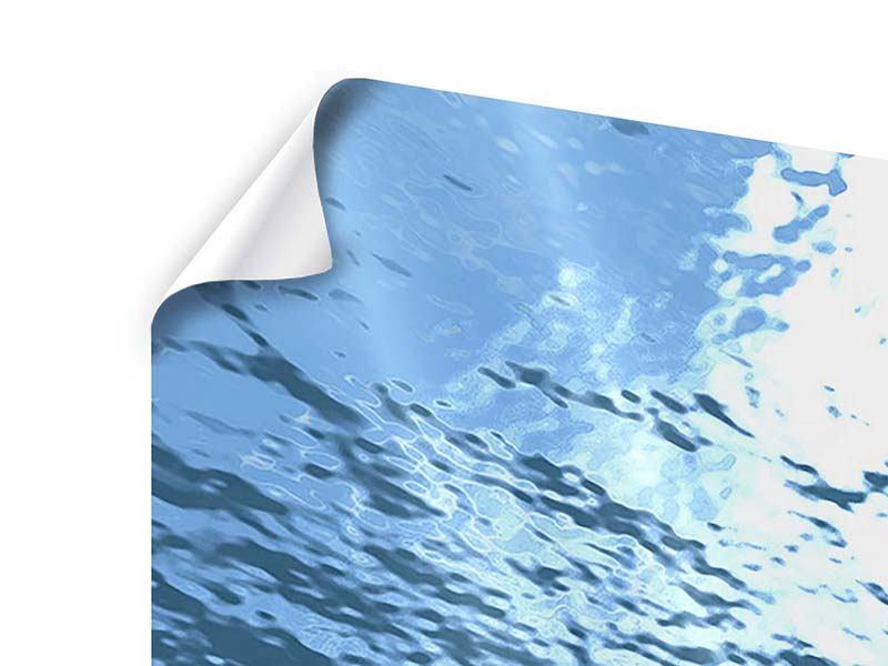 Panorama Poster 3-teilig Sonnenstrahlen unter Wasser