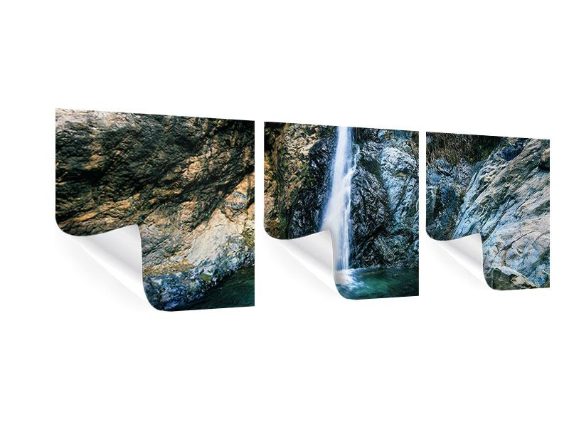 Panorama Poster 3-teilig Bewegtes Wasser