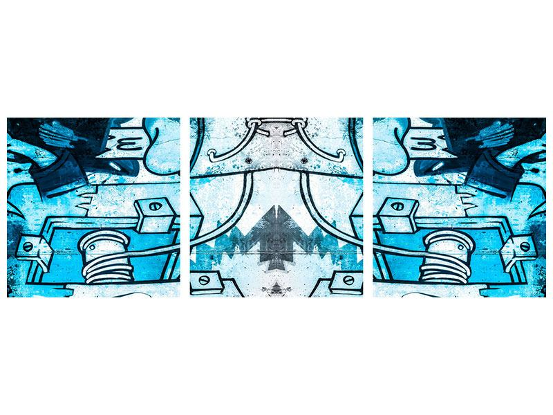 Panorama Poster 3-teilig Graffiti