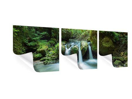 Panorama Poster 3-teilig Wasserspiegelungen