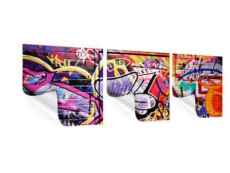 Panorama Poster 3-teilig Graffiti Kunst