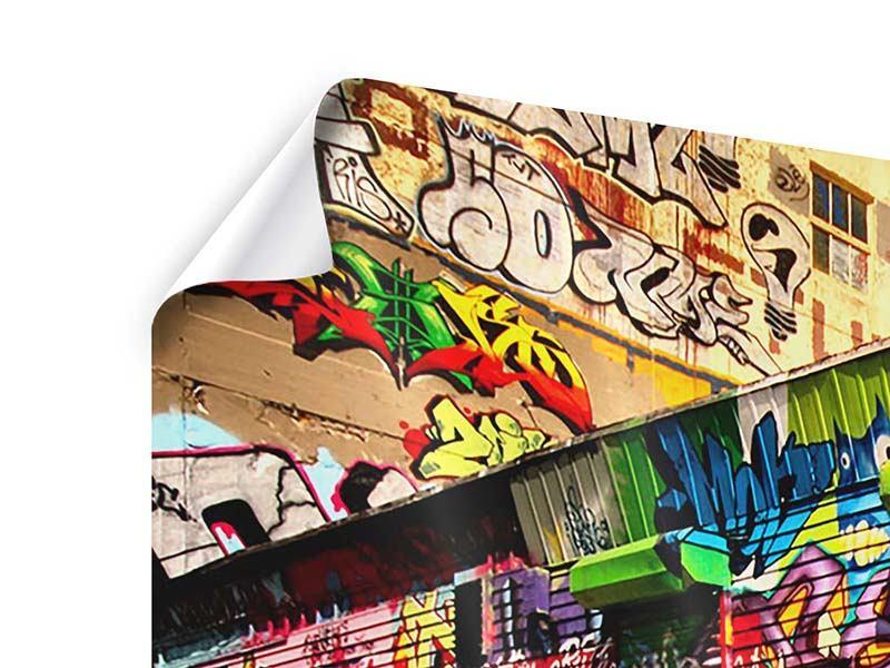 Panorama Poster 3-teilig NY Graffiti
