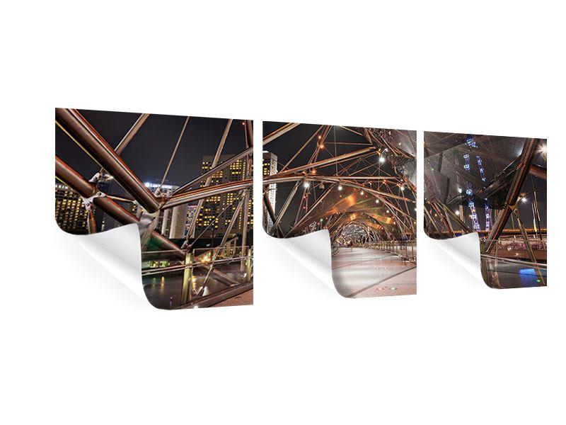 Panorama Poster 3-teilig Brückenlichter