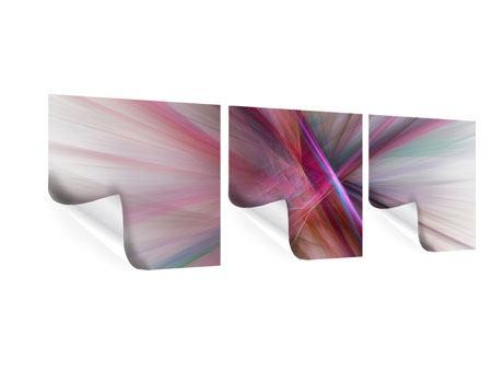 Panorama Poster 3-teilig Abstraktes Lichterleuchten