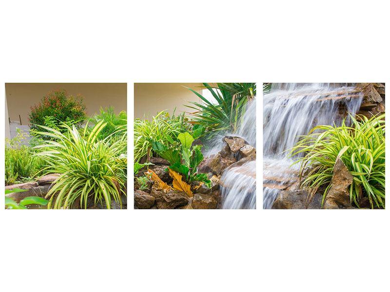 Panorama Poster 3-teilig Paradiesgarten