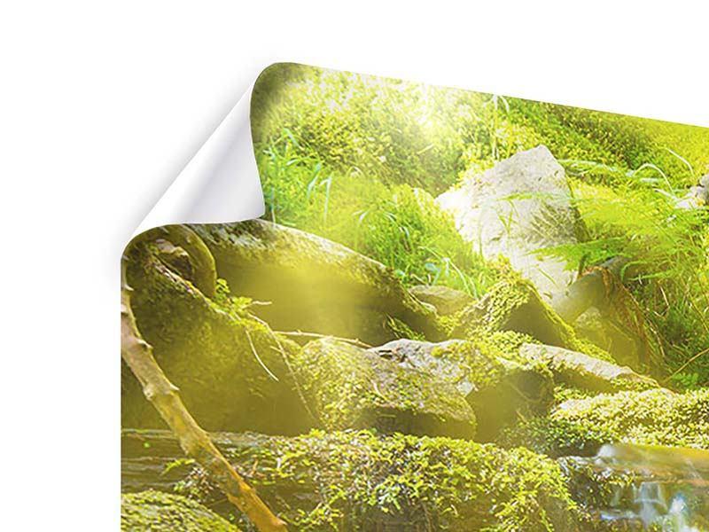 Panorama Poster 3-teilig Schönheit des fallenden Wassers